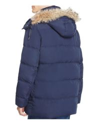 Marc New York - Blue Winslow Hooded Down Parka for Men - Lyst