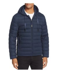 Andrew Marc | Blue Packable Quilted Down Jacket for Men | Lyst