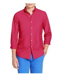 Polo Ralph Lauren - Pink Slim Garment-dyed Cotton Shirt for Men - Lyst