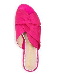 Sam Edelman - Pink Women's Darian Knotted Silk Slide Sandals - Lyst