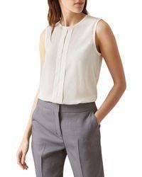 Hobbs | White Annalease Silk Top | Lyst