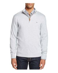 Vineyard Vines | Gray Pima Cotton Quarter Zip Sweater for Men | Lyst