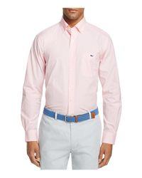 Vineyard Vines | Pink Seabrook Gingham Tucker Slim Fit Button-down Shirt for Men | Lyst