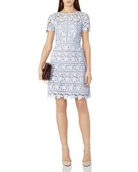 Reiss | Blue Orchid Lace Dress | Lyst