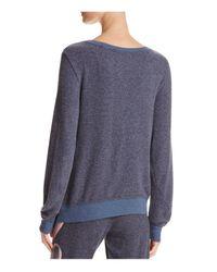 Wildfox - Blue Faded Heart Sweatshirt - Lyst