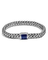 John Hardy | Blue Sterling Silver Classic Chain Bracelet With Lapis Lazuli | Lyst