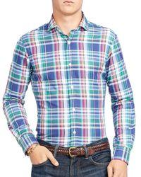 Polo Ralph Lauren | Blue Plaid Oxford Classic Fit Button-down Shirt for Men | Lyst
