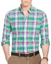 Polo Ralph Lauren | Green Plaid Cotton Oxford Classic Fit Button-down Shirt for Men | Lyst