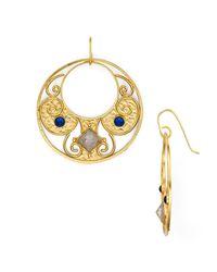 Stephanie Kantis - Metallic Antiquity Round Drop Earrings - Lyst
