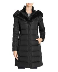 T Tahari - Black Felicity Long Puffer Coat - Lyst