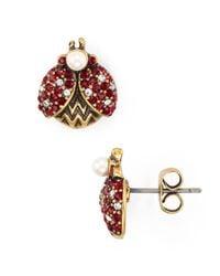 Marc Jacobs - Metallic Ladybug Stud Earrings - Lyst