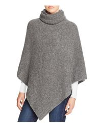 Aqua | Gray Turtleneck Donegal Poncho | Lyst