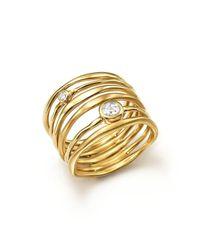 Ippolita | Metallic 18k Yellow Gold Glamazon Stardust Movie Star Ring With Diamonds | Lyst