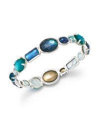 Ippolita | Blue Sterling Silver Rock Candy® Wonderland All Stone Bangle In Merino | Lyst