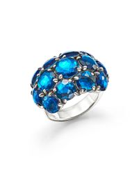 Ippolita | Blue Sterling Silver Rock Candy Wonderland Cluster Dome Ring In Frost | Lyst