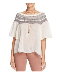 Free People | White Lock Lomand Sweater | Lyst