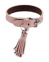 Rebecca Minkoff | Pink Tassel Leather Bracelet | Lyst