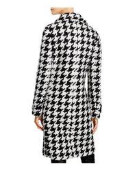 Calvin Klein | Black Houndstooth Coat | Lyst