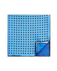 Lanvin - Blue Four-color Dots Pocket Square for Men - Lyst