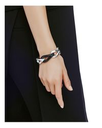 John Hardy | Metallic Sterling Silver Bamboo Hinged Bangle With Black Onyx | Lyst