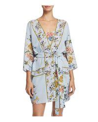 Flora Nikrooz | Blue Kayla Print Kimono Robe | Lyst