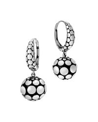 John Hardy | Metallic Sterling Silver Dot Drop Earrings | Lyst