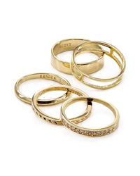 Kendra Scott | Metallic Kara Rings, Set Of 5 | Lyst