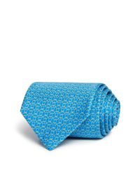 Ferragamo | Blue Rope Link Gancini Classic Tie for Men | Lyst