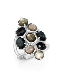 Ippolita | Multicolor Sterling Silver Rock Candy Multi Stone And Doublet Cluster Ring In Black Tie | Lyst