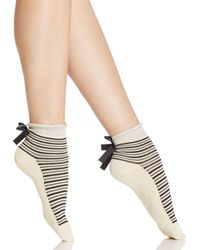 Free People | Natural Parisi Stripe Ankle Socks | Lyst