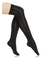 Free People   Black Fray Over-the-knee Socks   Lyst