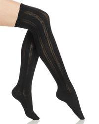 Free People | Black Fray Over-the-knee Socks | Lyst