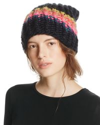 Free People | Black Over The Rainbow Beanie | Lyst
