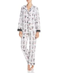 Pj Salvage | White Yearbook Dog Flannel Pajama Set | Lyst