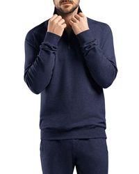Hanro - Black Luis Half Zip Lounge Sweatshirt for Men - Lyst