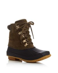 Joie | Brown Delyth Lace Up Rain Booties | Lyst