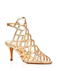 Vince Camuto | Paxton Metallic Caged Sandals | Lyst