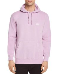 Obey - Pink Heavyweight Pigment Dyed Hoodie for Men - Lyst