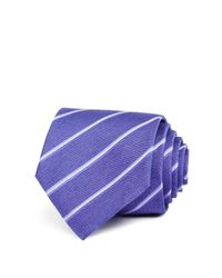 John Varvatos | Purple Diagonal Stripe Classic Tie for Men | Lyst