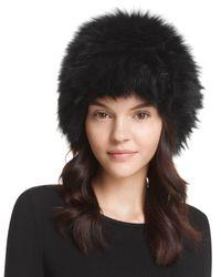 Surell   Black Fox Fur Cap   Lyst