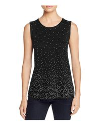 NIC+ZOE | Black Embellished Visionaire Top | Lyst