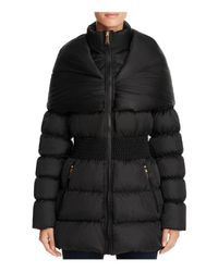 Laundry by Shelli Segal | Black Shawl Collar Puffer Coat | Lyst