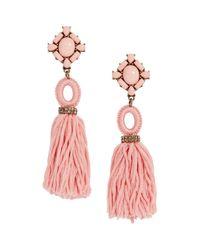 BaubleBar   Pink Sohvi Tassel Drop Earrings   Lyst