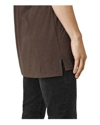 AllSaints - Brown Tower Tee for Men - Lyst