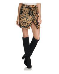 Free People   Black Damask Mini Skirt   Lyst