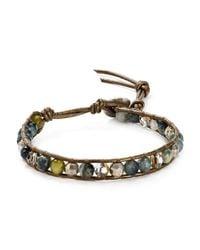 Chan Luu | Multicolor Cat's Eye Beaded Leather Bracelet | Lyst