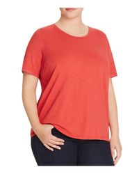 Eileen Fisher | Organic Cotton Heathered Tee | Lyst