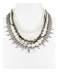"Aqua | Metallic Harmony Statement Necklace, 16"" - 100% Exclusive 