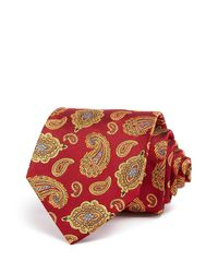Turnbull & Asser | Red Floating Paisley Classic Tie for Men | Lyst