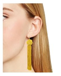 Vanessa Mooney   Metallic Astrid Tassel Drop Earrings   Lyst